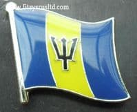 Barbados Country Flag Lapel Hat Cap Tie Pin Badge - Brand New